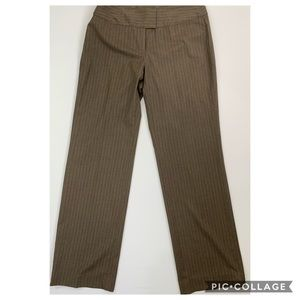 CAbi 10 dress pants pinstriped Kelsey brown